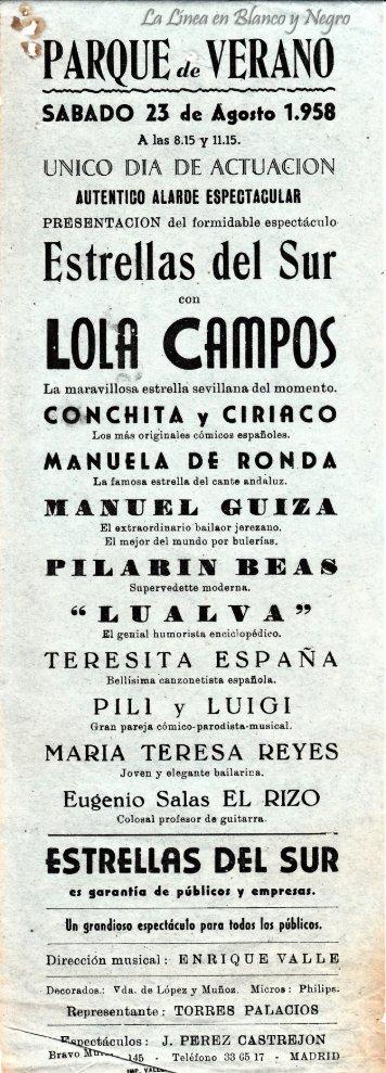 1958-08-23 Lola Campos - Estrellas del Sur