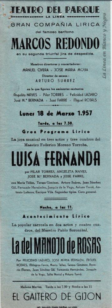 1957-03-18 Gran Compañía Lírica Marcos Redondo