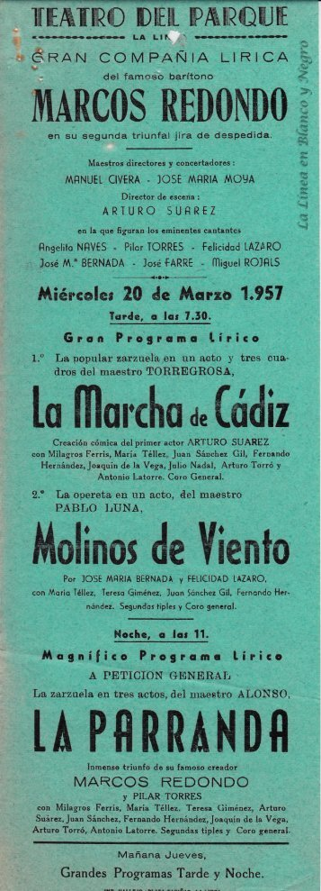 1957-03-20 Gran Compañía Lírica Marcos Redondo