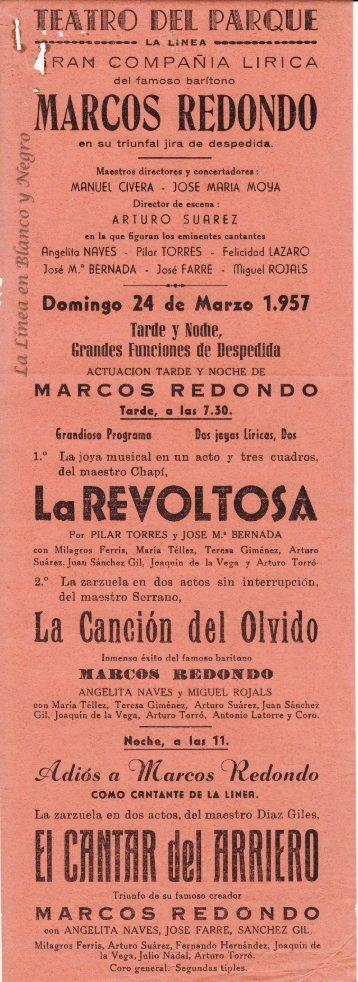 1957-03-24 Gran Compañía Lírica Marcos Redondo - La Revoltosa