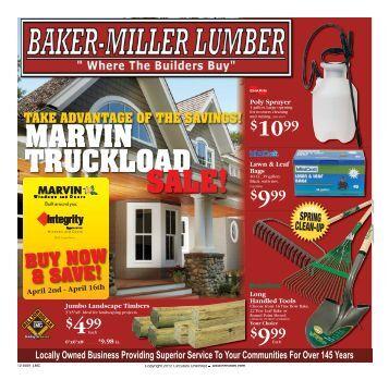MARVIN TRUCKLOAD SALE! - Baker-Miller Lumber