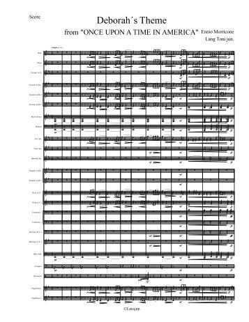 Deborah´s Theme - Score
