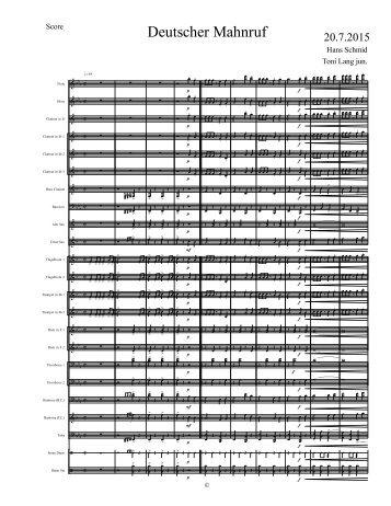 Deutscher Mahnruf - Score