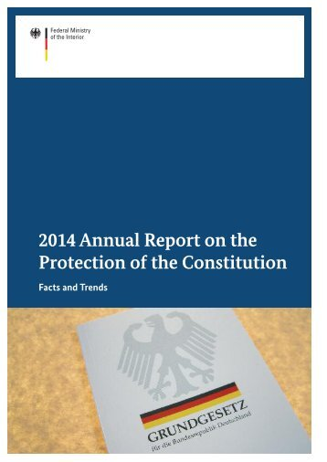 2014 Annual Report on the Protection of the Constitution
