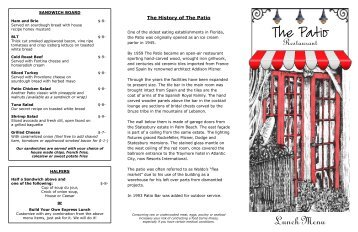The History Of The Patio   Patio Restaurant In Vero Beach Florida