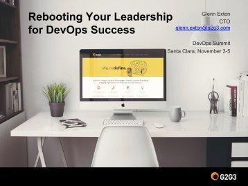 Rebooting Your Leadership for DevOps Success