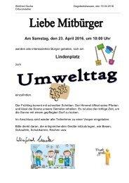 20160414 Einladung Umwelttag Dago am 23.04.2016