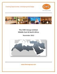 CWC in the Middle East & North Africa - Kurdistan-Iraq Oil and Gas