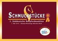 Schmuckstücke 2016: Kollektion der Reitpferdeauktion am 7. Mai in München