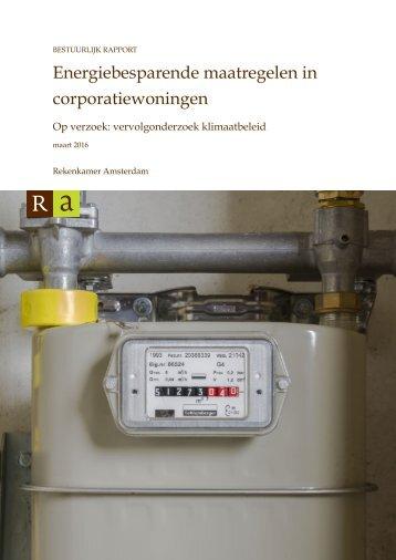 Energiebesparende maatregelen in corporatiewoningen