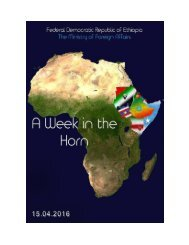 A Week in the Horn 15.04.2016