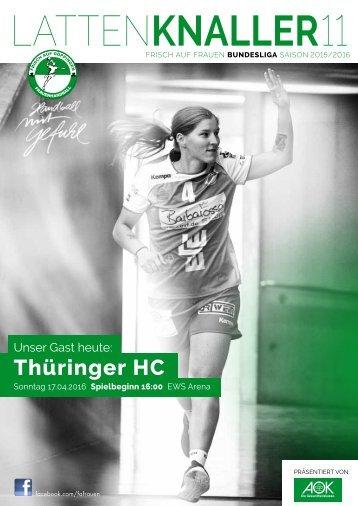 LATTENKNALLER 11 -17.04.2016 - FRISCH AUF Frauen - Thüringer HC - SAISON 2015/2016