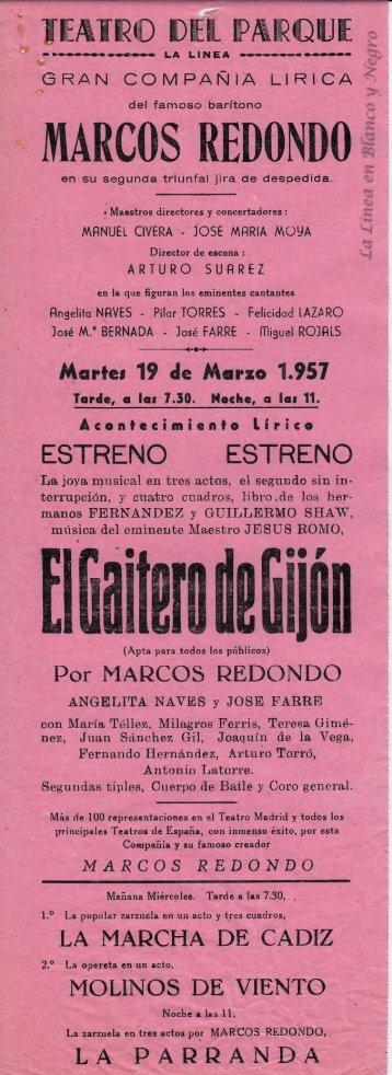 1957-03-19 Gran Compañía Lírica Marcos Redondo