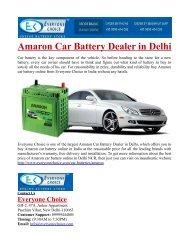Amaron Car Battery Dealer in Delhi