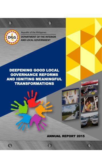 DILG Annual Report CY 2015 - LML final