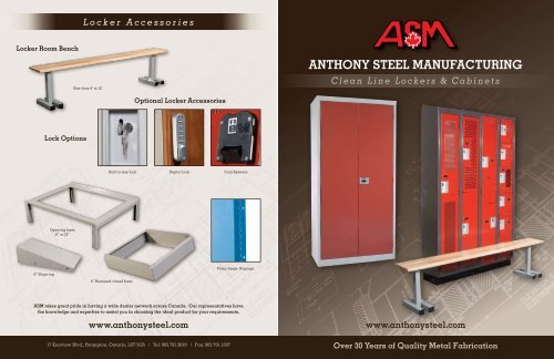 Clean Line Lockers - Anthony Steel Manufacturing