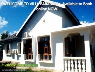 WELLCOME TO VILLA BARABARA - Available to Book online NOW!