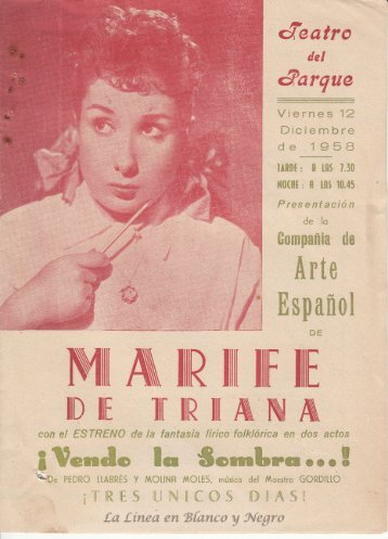 1958-12-12 Marife de Triana - Vendo la Sombra