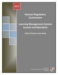 Nuclear Regulatory Commission Learning Management System ...