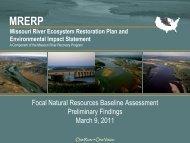 Missouri River Ecosystem Restoration Plan and EIS - mrnrc 2011
