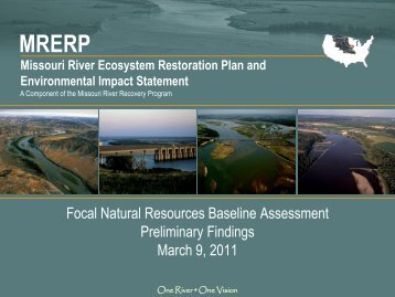 Missouri River Ecosystem Restoration Plan and EIS - mrnrc 2011