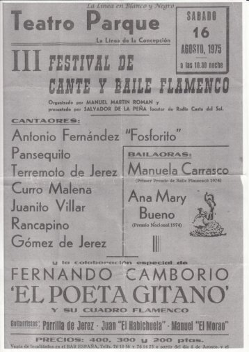 1975-08-16 III Festival de Cante y Baile Flamenco