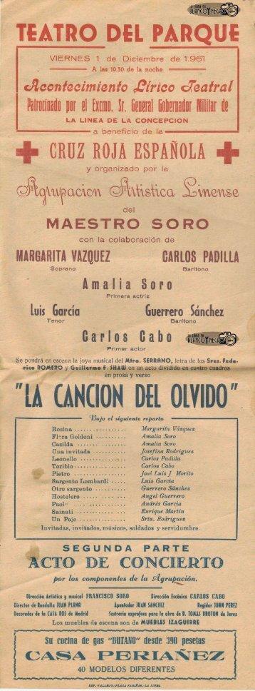 1961-12-01 Maestro Soro - La Cancion del Olvido