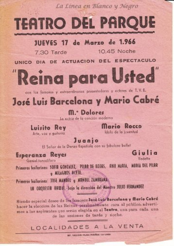 1966-03-17 Jose Luis Barcelona y Mario Cabre - Reina para Usted