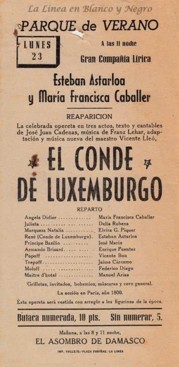 Esteban Astarloa - El Conde Luxemburgo