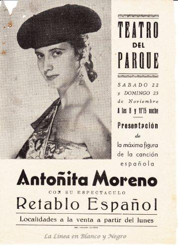 Antoñita Moreno - rertablo Español
