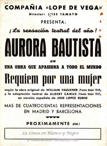 Aurora Bautista - Requiem por una Mujer