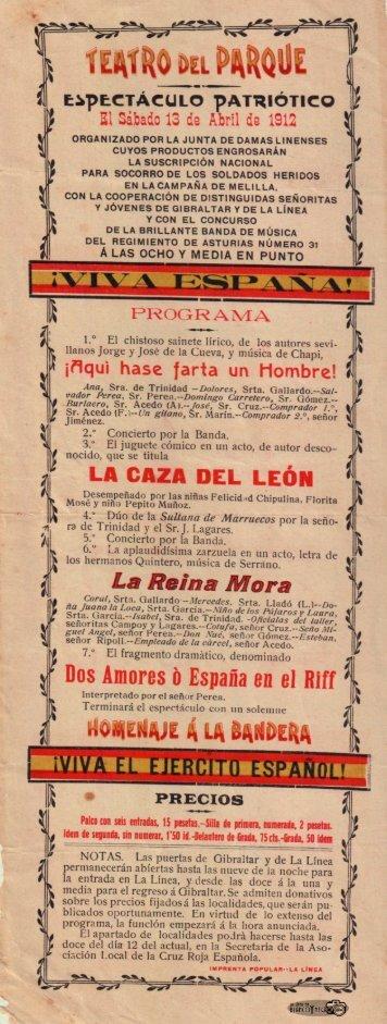 Espectaculo Patriotico 1921
