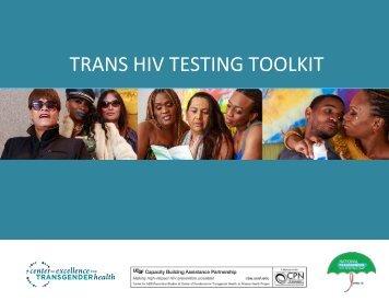 TRANS HIV TESTING TOOLKIT