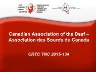 Canadian Association of the Deaf – Association des Sourds du Canada