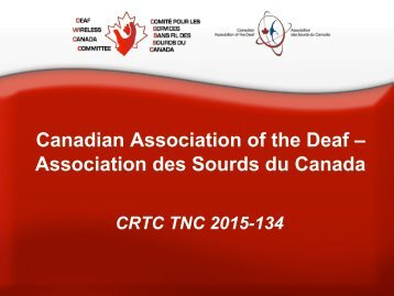 Canadian Association of the Deaf – Association des Sourds du Canada
