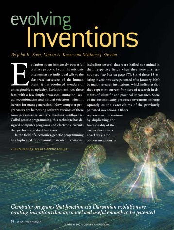 Evolving inventions