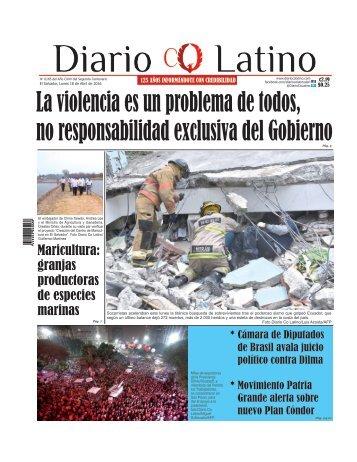 Edición 18 de Abril de 2016