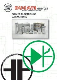 Ducati Power Electronic Capacitor Catalogue