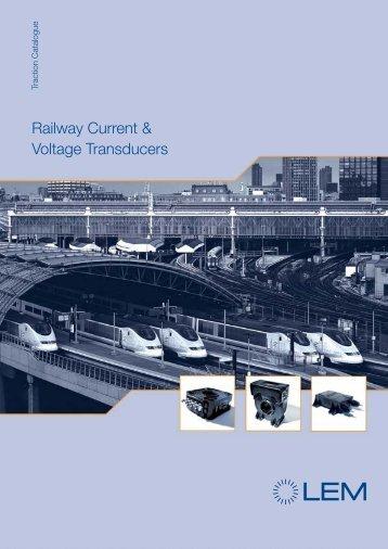 railway current voltage transducers