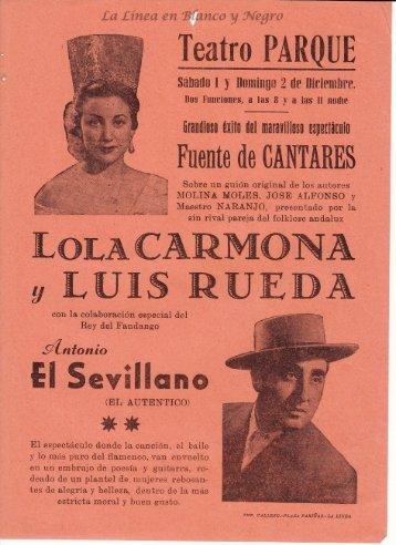 Lola Carmona y Luis Rueda - Fuente de Cantares