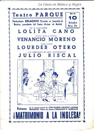 Matrimonio a la Inglesa - Lolita Cano y Venancio Moreno
