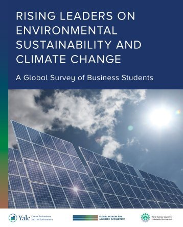 RISING LEADERS ON ENVIRONMENTAL SUSTAINABILITY AND CLIMATE CHANGE