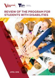 REVIEW OF THE PROGRAM FOR STUDENTS WITH DISABILITIES