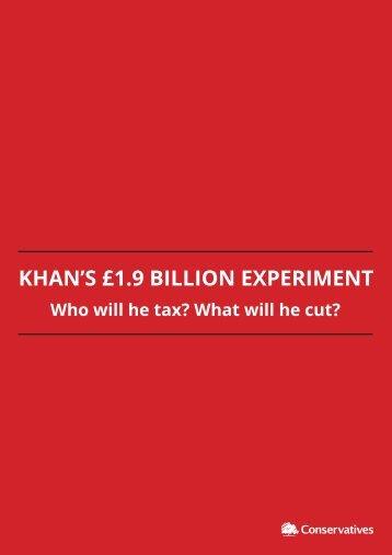 KHAN'S £1.9 BILLION EXPERIMENT