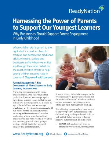 Harnessing the Power of Parents to Support Our Youngest Learners