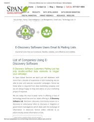 Buy Customized List of E-Discovery Software using Companies from Span Global Services