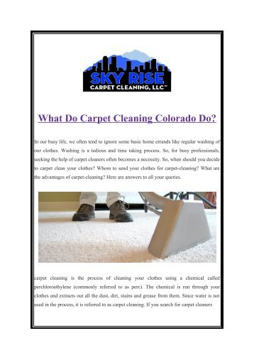 carpet cleaning colorado