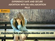 Experience Safe and Secure Abortion with RU-486-Abortion Pills