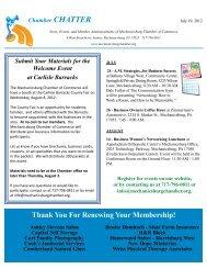Chamber Chatter : Thursday July 19, 2012 - The Mechanicsburg ...