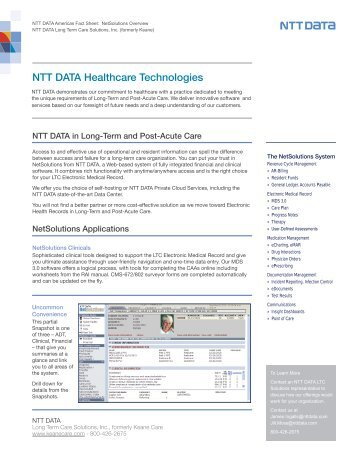 NTT DATA Healthcare Technologies - Keane Care